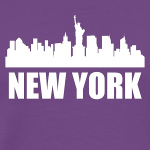 New York NY Skyline - Men's Premium T-Shirt