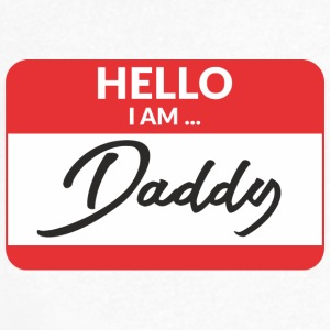 Hello i am Daddy T-Shirts - Men's V-Neck T-Shirt by Canvas