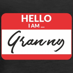 Hello i am Granny Tanks - Women's Premium Tank Top