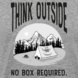 Think Outside - No Box Required. T-Shirts - Men's Premium T-Shirt
