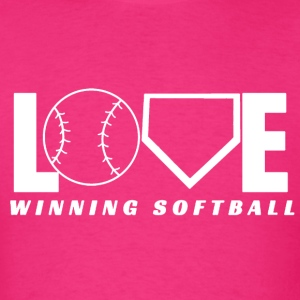 LOVE WINNING SOFTBALL WHITE - Men's T-Shirt