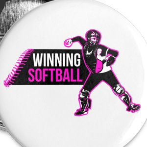 Winning Softball Color Buttons - Large Buttons