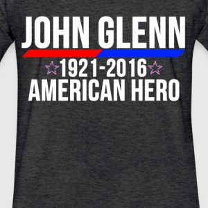 JOHN GLENN AMERICAN HERO T-Shirts - Fitted Cotton/Poly T-Shirt by Next Level