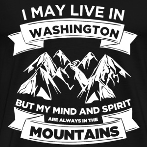 Washington - My mind  - Men's Premium T-Shirt