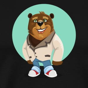 Cool California Hippie Brown Bear Artwork - Men's Premium T-Shirt