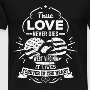 West virginia - It lives forever in the heart tee - Men's Premium T-Shirt