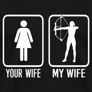 Archer wife - Difference between yours and mine - Men's Premium T-Shirt