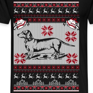 Dachshund - Merry dachshund christmas sweater - Men's Premium T-Shirt