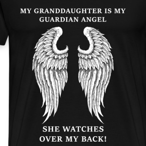 Granddaughter - Mine is my guardian angel - Men's Premium T-Shirt
