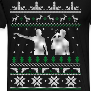 The walking dead - The walking dead xmas sweater - Men's Premium T-Shirt