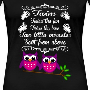 Twins - Twice the fun twice the love - Women's Premium T-Shirt