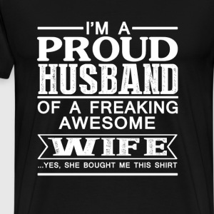 Wife - Proud husband of an awesome wife - Men's Premium T-Shirt