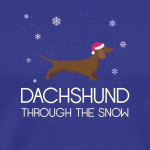 Dachshund Through The Snow Christmas TShirt - Men's Premium T-Shirt