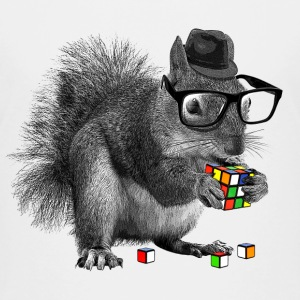 Rubik's Cube Hipster Squirrel - Toddler Premium T-Shirt