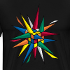 Rubik's Cube Multicolor Spikes - Men's Premium T-Shirt