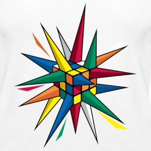 Rubik's Cube Colourful Spikes - Women's Premium Tank Top