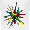Rubik's Cube Multicolor Spikes - Kids' Premium T-Shirt