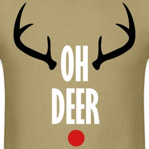 Oh Deer Christmas T-Shirts - Men's T-Shirt