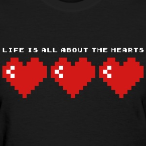 LIFE IS ALL ABOUT THE HEARTS - SO IS X-MAS T-Shirts - Women's T-Shirt