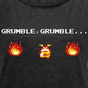 GRUMBLE GRUMBLE, ALL I WANT IS NICE FOOD FOR X-MAS T-Shirts - Women´s Rolled Sleeve Boxy T-Shirt