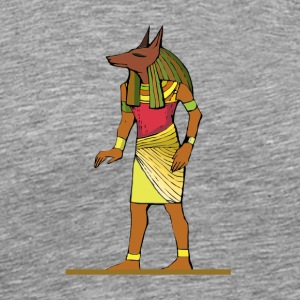 Ancient Egyptian Painting - Anubis, the Wolf God - Men's Premium T-Shirt