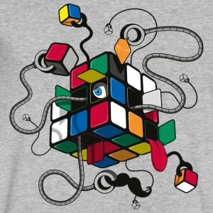 Rubik's Cube Illustrated - Men's V-Neck T-Shirt by Canvas
