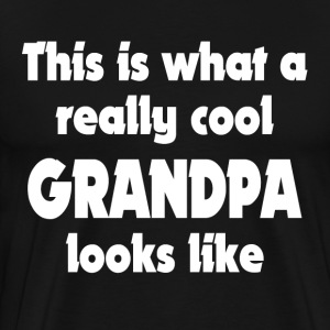 THIS IS WHAT A REALLY COOL GRANDPA LOOKS LIKE T-Shirts - Men's Premium T-Shirt