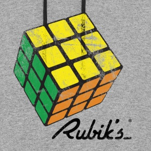 Rubik's Cube Solved Colourful Vintage - Colorblock Hoodie