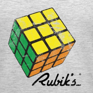 Rubik's Cube Solved Colourful Vintage - Women's Premium Tank Top
