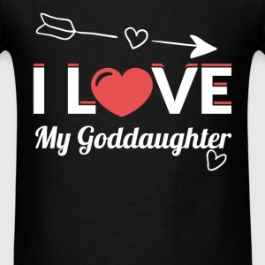 I love my goddaughter - Men's T-Shirt