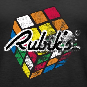 Rubik's Cube Distressed and Faded - Women's Premium Tank Top