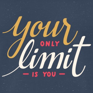 Your only limit is you motivational quote - Men's Premium T-Shirt