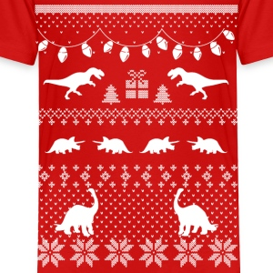 Dinosaur Ugly Sweater Funny Christmas Baby & Toddler Shirts - Toddler Premium T-Shirt