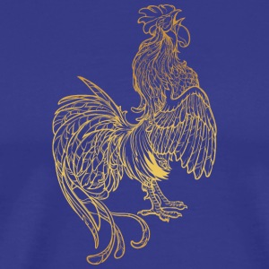 golden-rooster-sketch - Men's Premium T-Shirt
