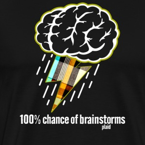 Forecast: 100% Brainstorms - Men's Premium T-Shirt