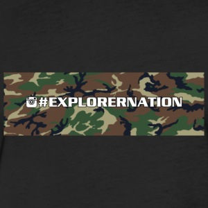 Explorernation camo logo T-Shirts - Fitted Cotton/Poly T-Shirt by Next Level