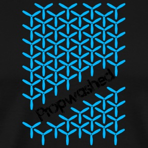 Propwashed Prop Pattern (Blue-Black) - Men's Premium T-Shirt