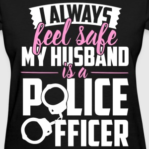 Police - My husband is a police officer - Women's T-Shirt