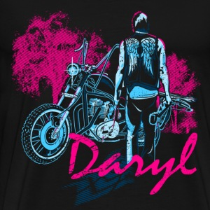 The walking dead - Daryl with motorcycle - Men's Premium T-Shirt