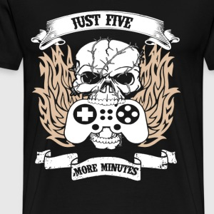 Gamer - Just five more minutes - Men's Premium T-Shirt