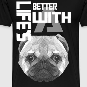 Dog lover - Life is better with a dog - Men's Premium T-Shirt