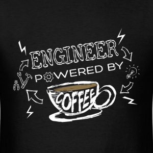 T-shirt for Engineer - Powered by coffee - Men's T-Shirt