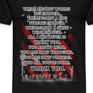 Memorial day - All I can offer is thank you - Men's Premium T-Shirt