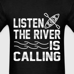 Boat sailor - Listen the river is calling - Men's T-Shirt