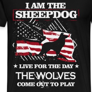 Sheepdog - Live for the day the wolves come out - Men's Premium T-Shirt
