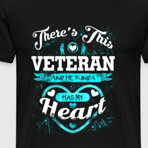 Veteran wife - He kinda has my heart - Men's Premium T-Shirt