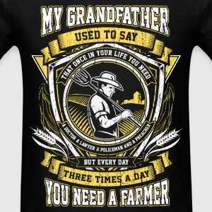 Farmer - Three times a day you need a farmer - Men's T-Shirt