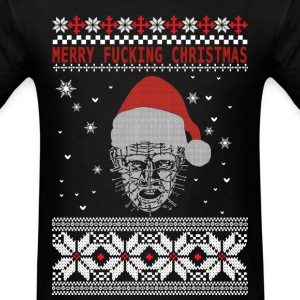 Hellraiser Christmas - Merry fucking Christmas - Men's T-Shirt