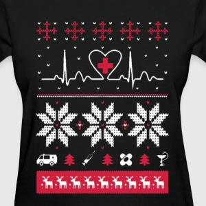 Nurse heartbeat - Ugly Christmas sweater - Women's T-Shirt