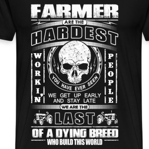 Farming The last of a dying breed who build world - Men's Premium T-Shirt